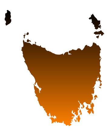 tasmania: Map of Tasmania