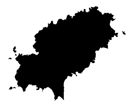 Kaart van Ibiza Stock Illustratie