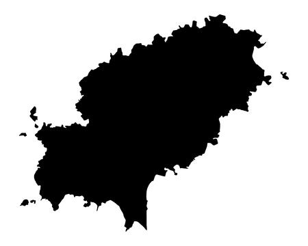 Map of Ibiza Ilustração
