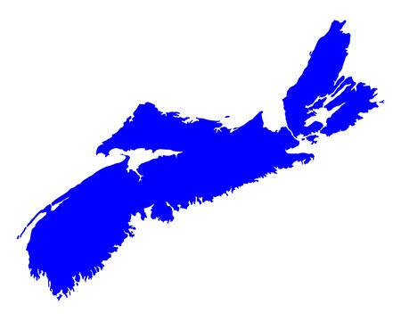 Nova Scotia: Map of Nova Scotia Illustration