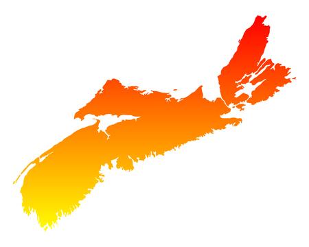 scotia: Map of Nova Scotia Illustration