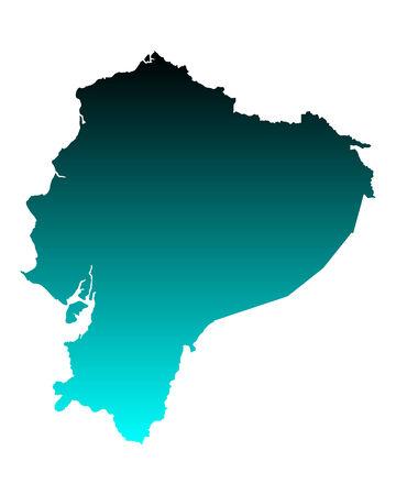 ecuador: Kaart van Ecuador