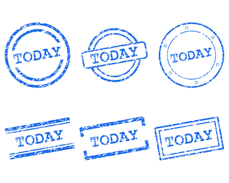 today: Today stamps Illustration