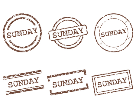 Sunday stamps Illustration