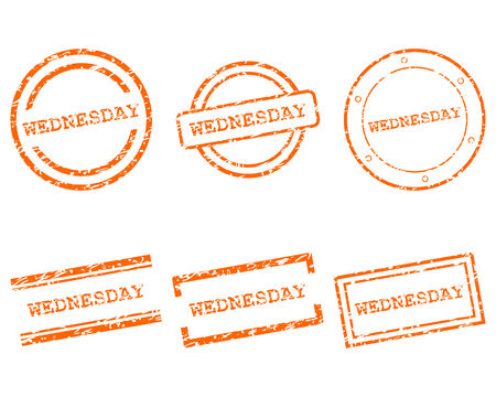 wednesday: Wednesday stamps Illustration