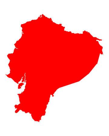 ecuador: Map of Ecuador Stock Illustratie