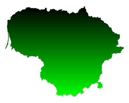 lithuania: Map of Lithuania Illustration