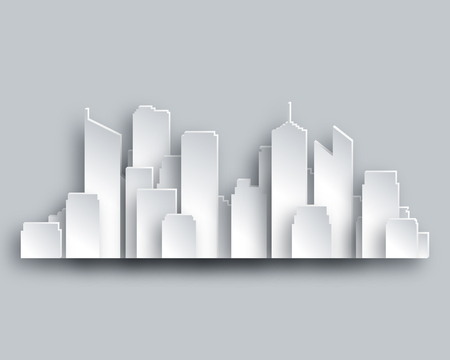 and scape: City skyline Illustration
