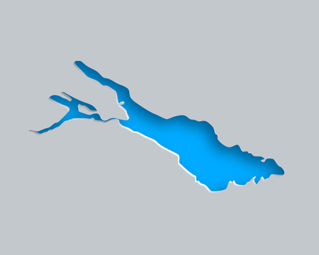 Map of Lake Constance Vettoriali