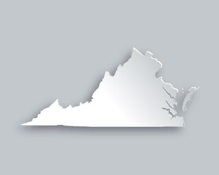 3d virginia: Map of Virginia
