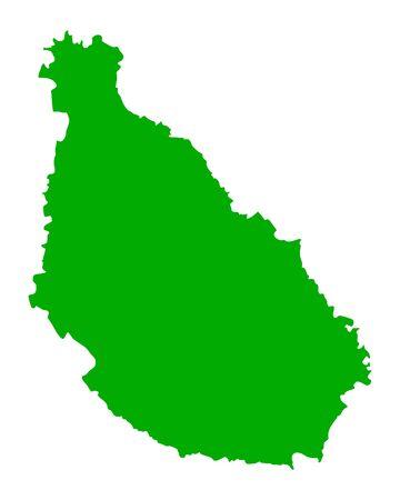 verde: Map of Santiago Illustration
