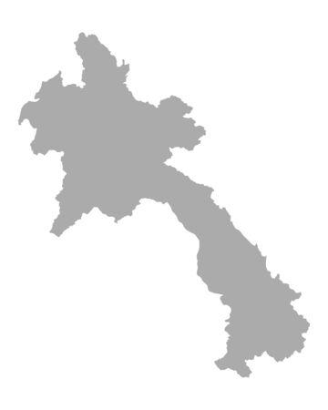 laos: Map of Laos Illustration