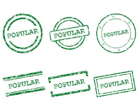 popular: Popular stamps Illustration