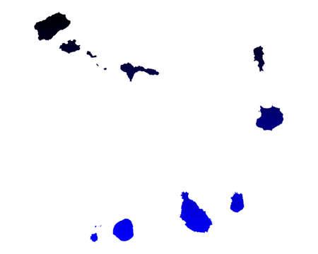 cape verde: Map of Cape Verde
