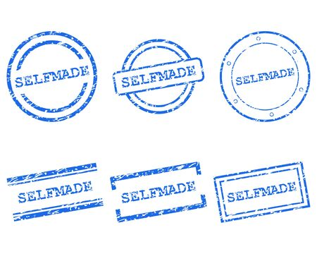 selfmade: Selfmade stamps Illustration