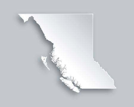 columbia: Map of British Columbia