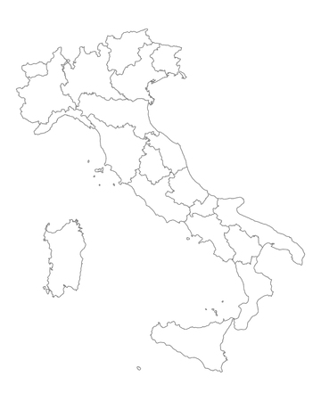italy background: Map of Italy
