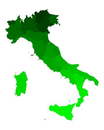 이탈리아의지도 일러스트