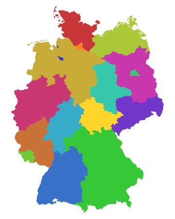 Map of Germany Stock Illustratie