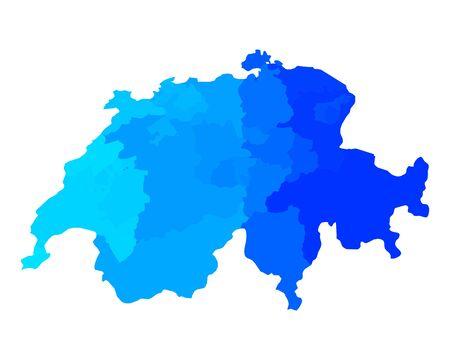 canton: Map of Switzerland