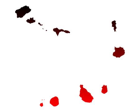 verde: Map of Cape Verde
