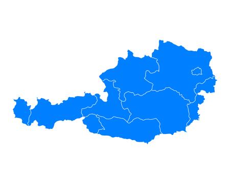 tyrol: Map of Austria Illustration