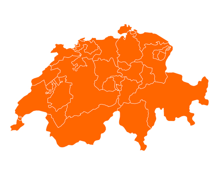 cantons: Map of Switzerland