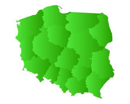 poland: Map of Poland