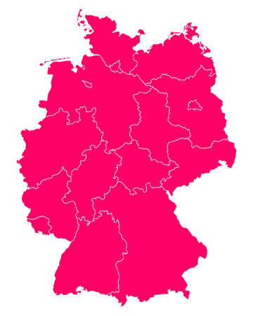 bremen: Map of Germany Illustration