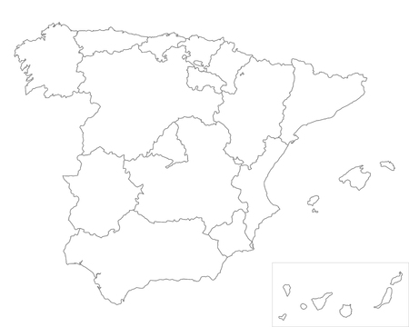 Kaart van Spanje Stockfoto - 43292463