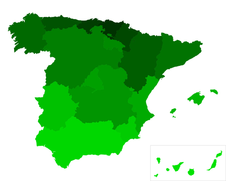 canary islands: Map of Spain