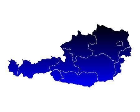 チロル: オーストリアの地図  イラスト・ベクター素材