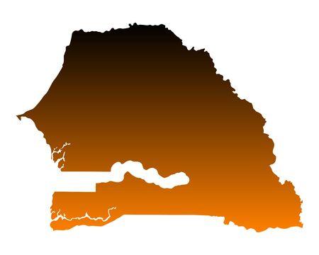 senegal: Map of Senegal