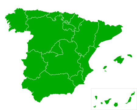 extremadura: Map of Spain
