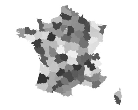 region: Map of France
