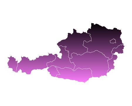 チロル: Map of Austria  イラスト・ベクター素材