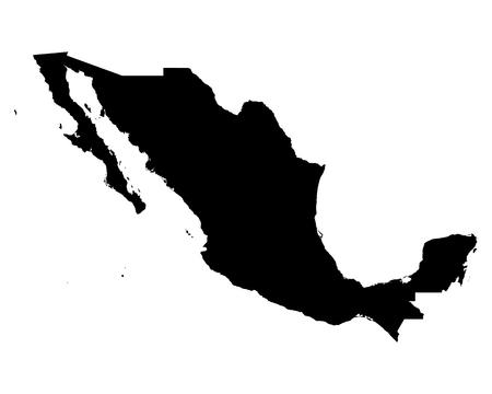 Map of Mexico 版權商用圖片 - 45645583
