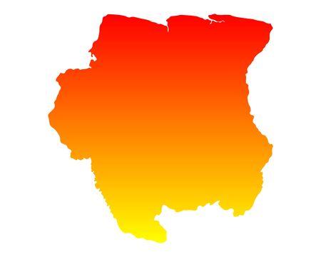 suriname: Map of Suriname