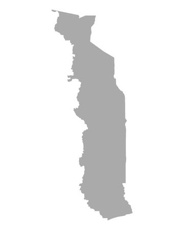 togo: Map of Togo