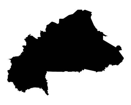 burkina faso: Map of Burkina Faso Illustration