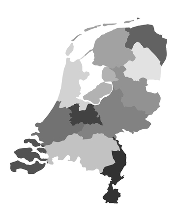 netherlands: Map of the Netherlands