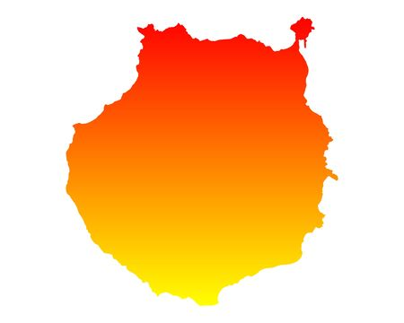 gran: Map of Gran Canaria Illustration