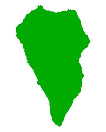la: Map of La Palma