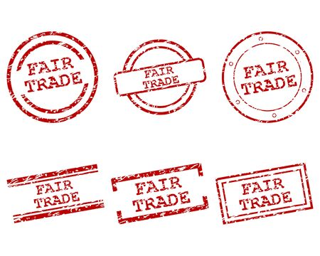 Fair-Trade-Briefmarken Vektorgrafik