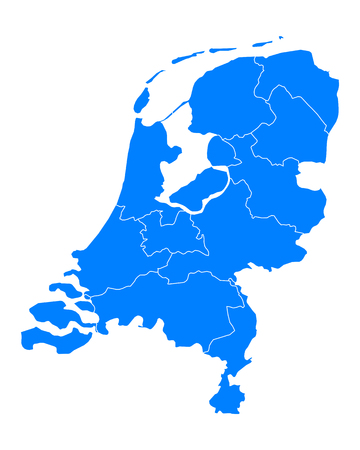 Map of thr Netherlands Illustration