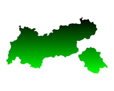 チロル: Map of Tyrol