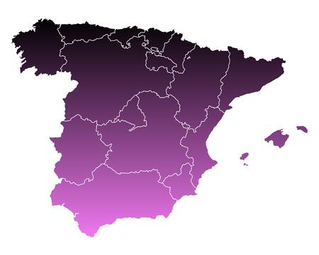 spain: Map of Spain