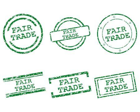 trade fair: Fair trade stamps