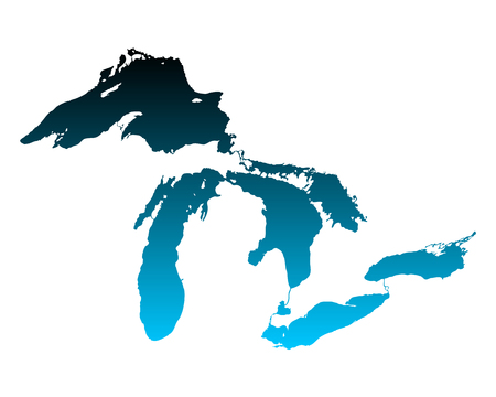 lake: Map of Great Lakes