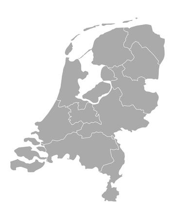 netherlands: Map of thr Netherlands Illustration
